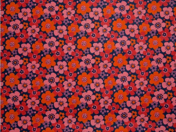 Call me! Flowers Orange/Navy