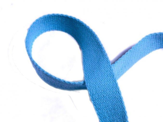 Bavlněný popruh modrý