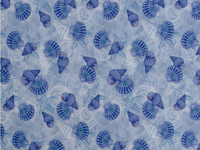 Coastal Dreams Blue Shells Allover