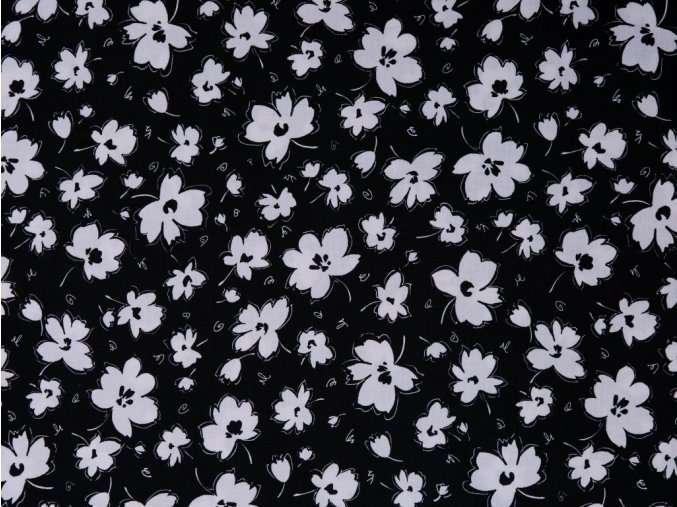 Blanc et Noir Spaced Floral Black
