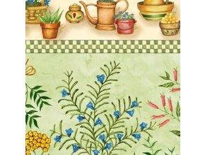 Garden of Herbs Repeating Stripe