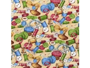 Quilting Purr-Fection Sewing Toss Ivory