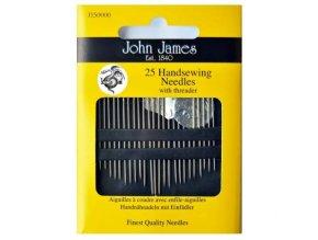 Jehly John James pro ruční šití mix 25 jehel