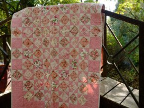 Patchworková deka Růžová zahrada