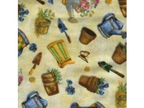 Čtverec Purr-fect Garden Flowerpot Toss Ivory