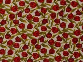 Čtverec Tulip Festival Red
