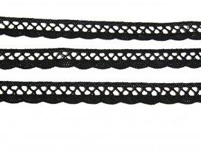 Paličkovaná krajka černá