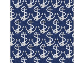 Coastal Dreams Navy Anchors