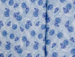 Coastal Dreams Blue Shells Allover