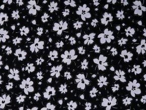 Blanc et Noir Spaced Floral Black