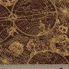 New World Map -burgundy