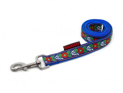 vodítko pro psy krojové modré