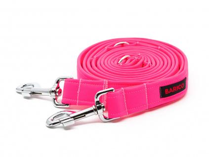 Barico Přepínací vodítko pro psy Neon Pink