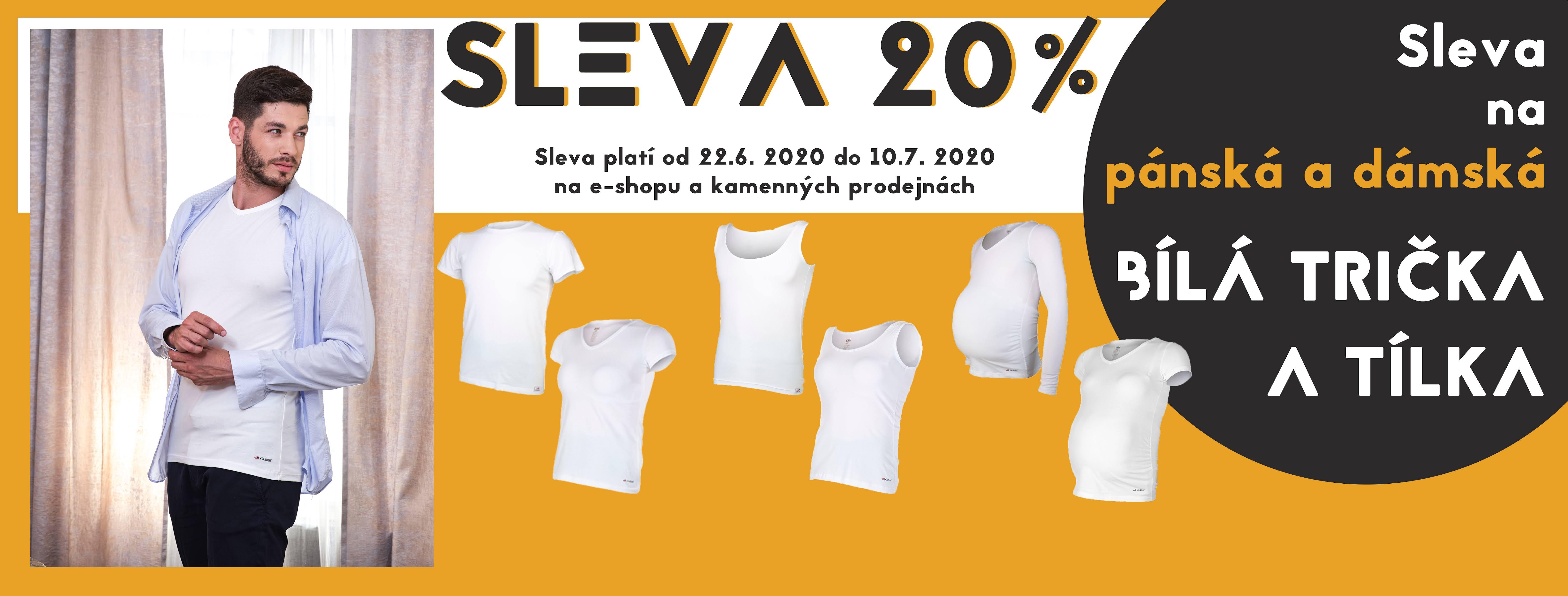Akce trička bílá