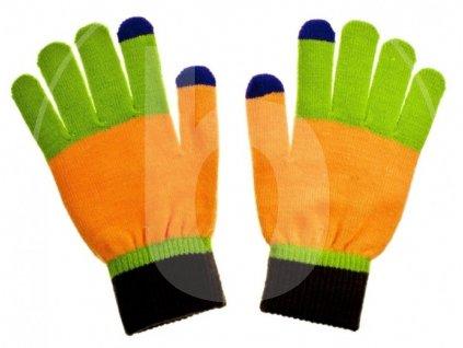 rukavice na dotykovy display nordic blue damske
