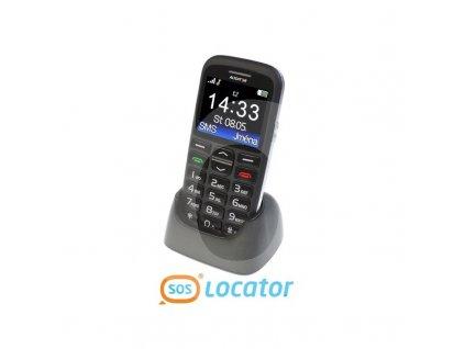 psg aligator a680 cierny mobil pre seniorov