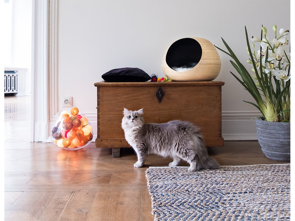 Bambusový pelíšek pro kočky Dandy Ballčerný