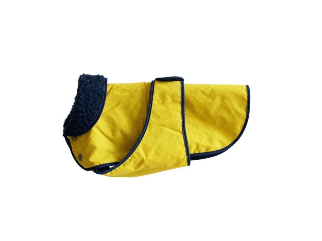 Anglický kvalitní kabát pro psy Fetch & Follow sunshine
