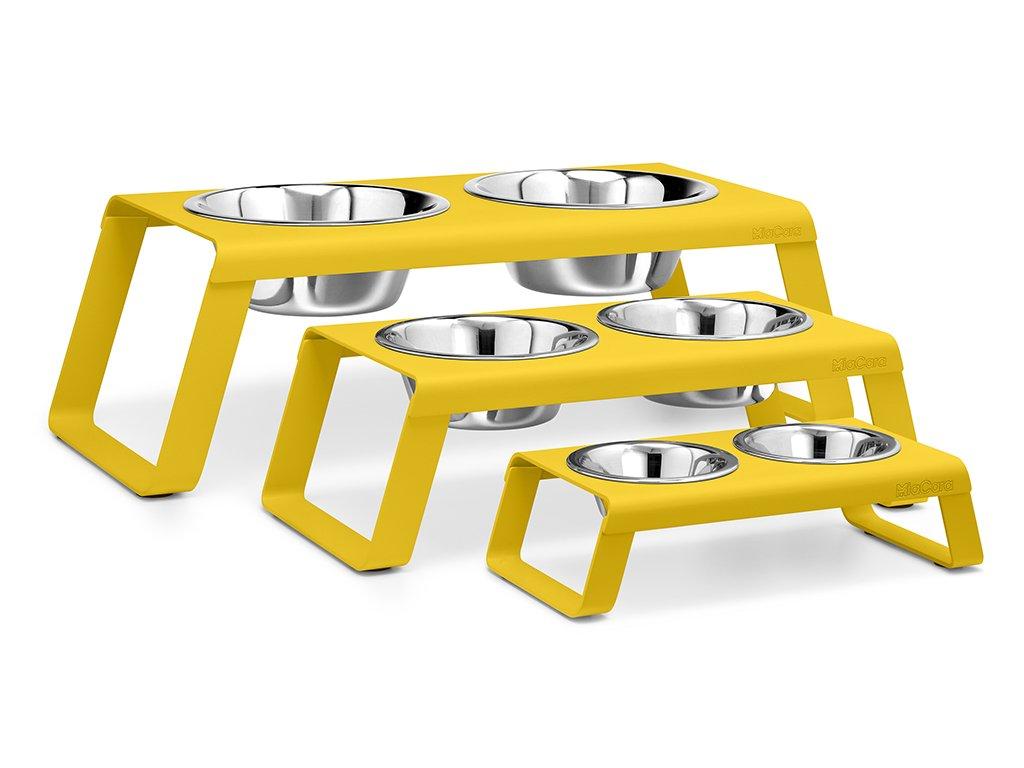 Designová miska pro psy MiaCara Desco žlutá