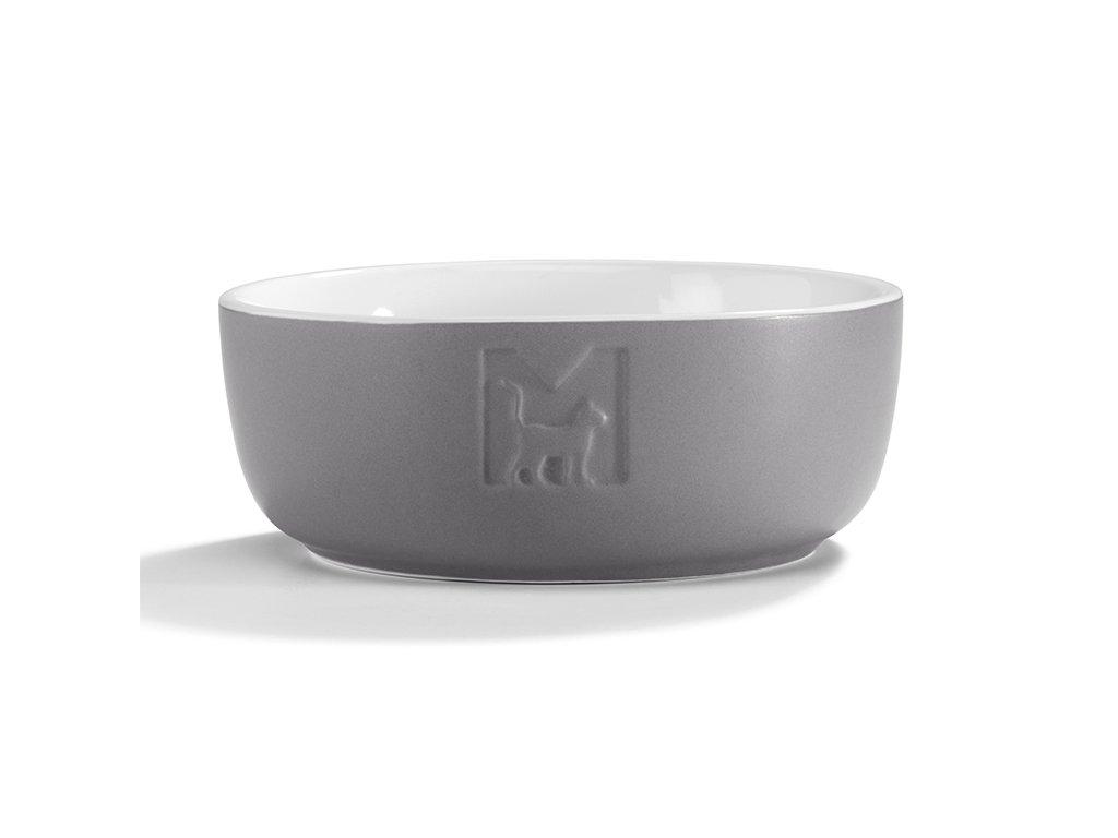 Kvalitní keramická miska pro kočky MiaCara Tondo šedá