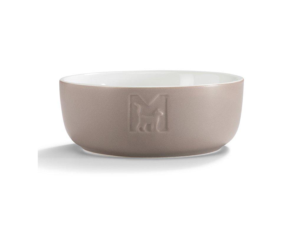 Luxusní keramická miska pro kočky MiaCara Tondo hnědá