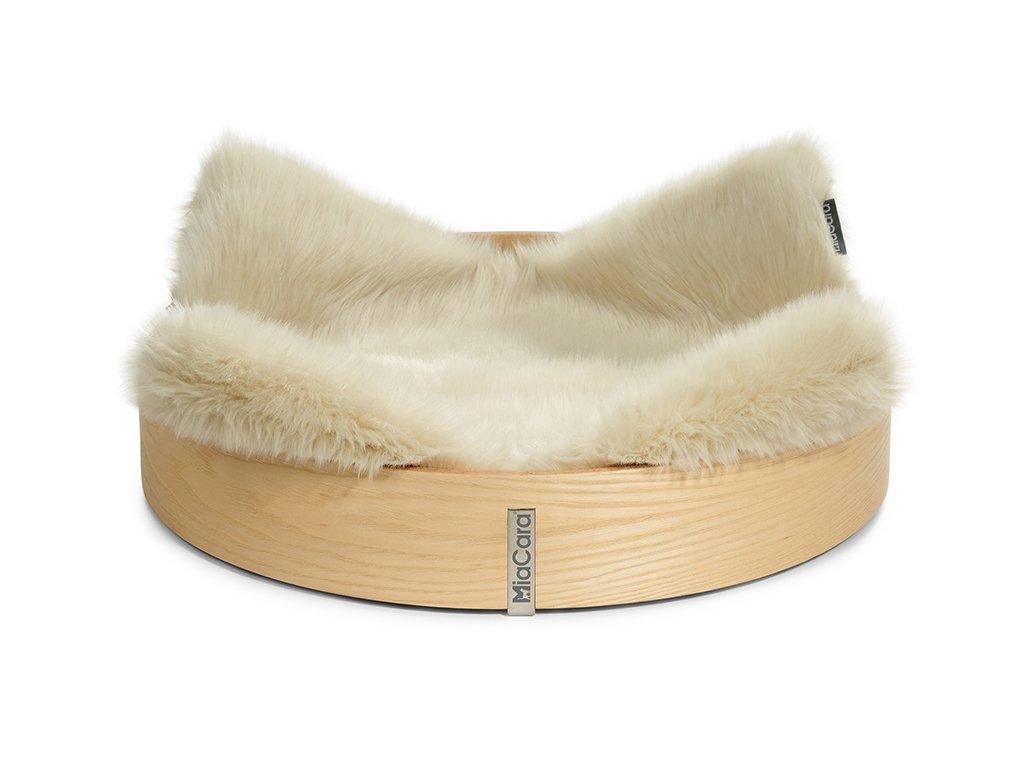 Luxusní pelíšek pro kočky MiaCara Anello ivory
