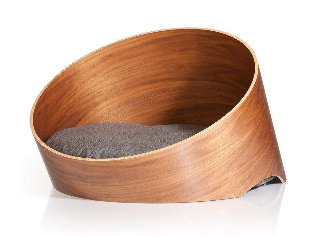 Designový dřevěný pelíšek pro psy MiaCara Covo ořech/mocca