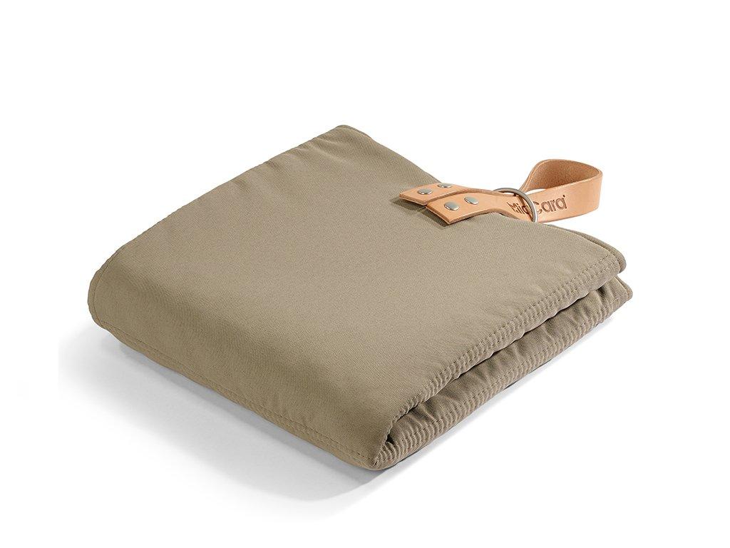 Cestovní deka pro psy MiaCara Cosmo hnědá