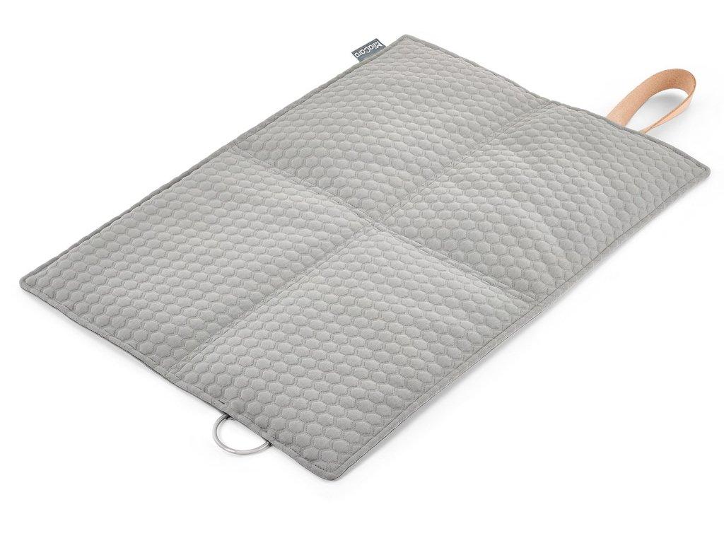 Luxusní cestovní deka pro psy MiaCara Cosmo šedá