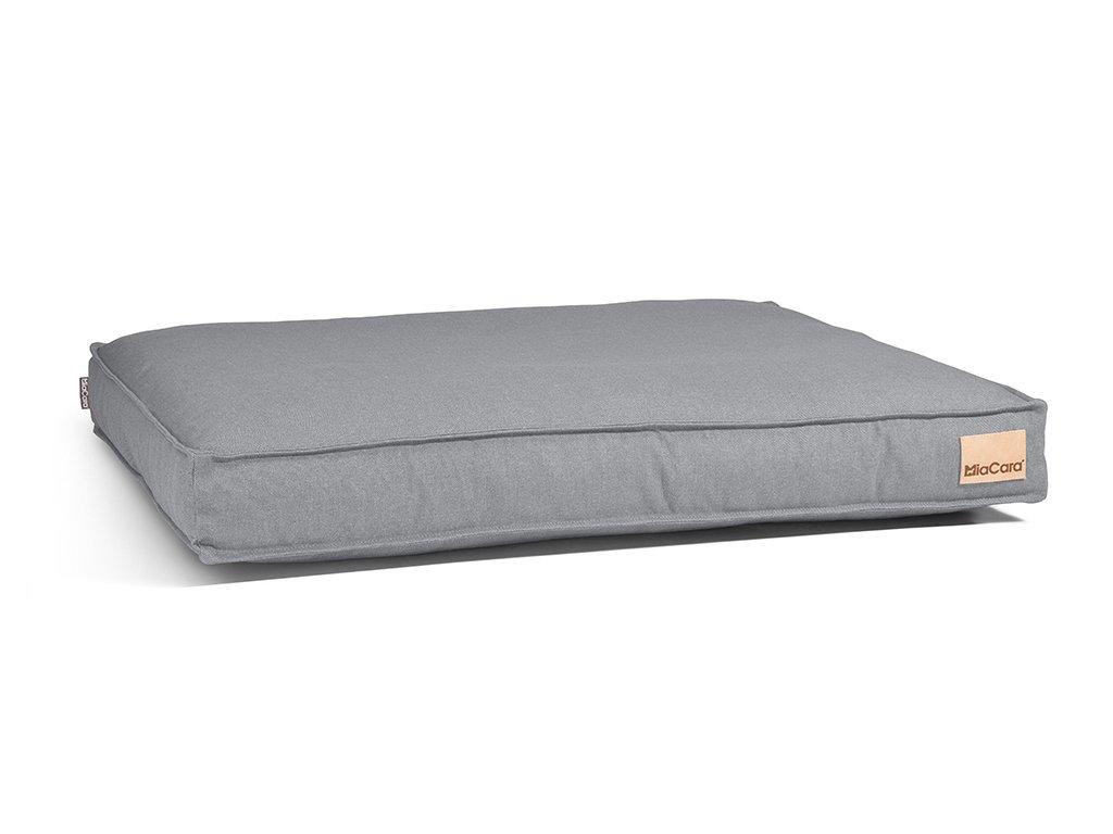 Luxusní matrace pro psy MiaCara Lino šedá