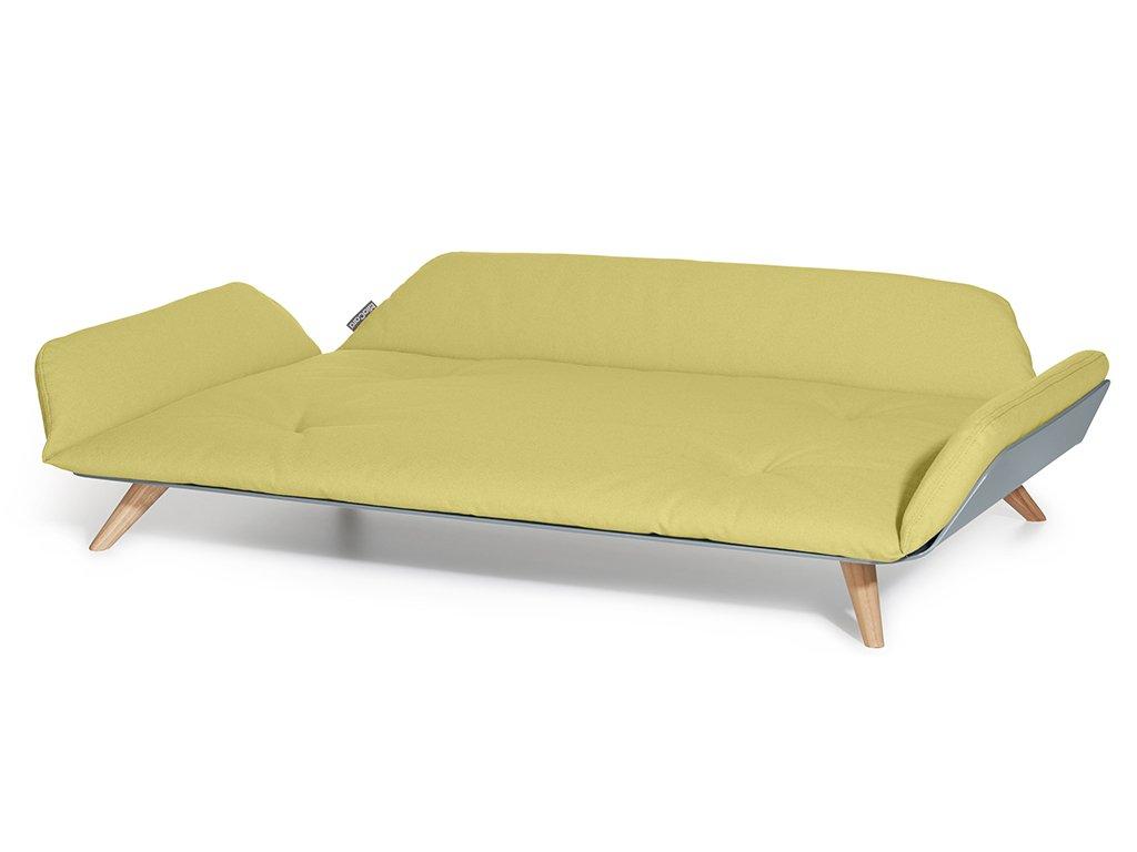 Designová pohovka pro psy MiaCara Letto žlutá