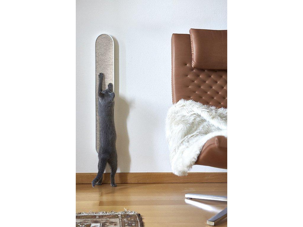 Designové škrabadlo na stěnu MiaCara Volto bílé/béžové