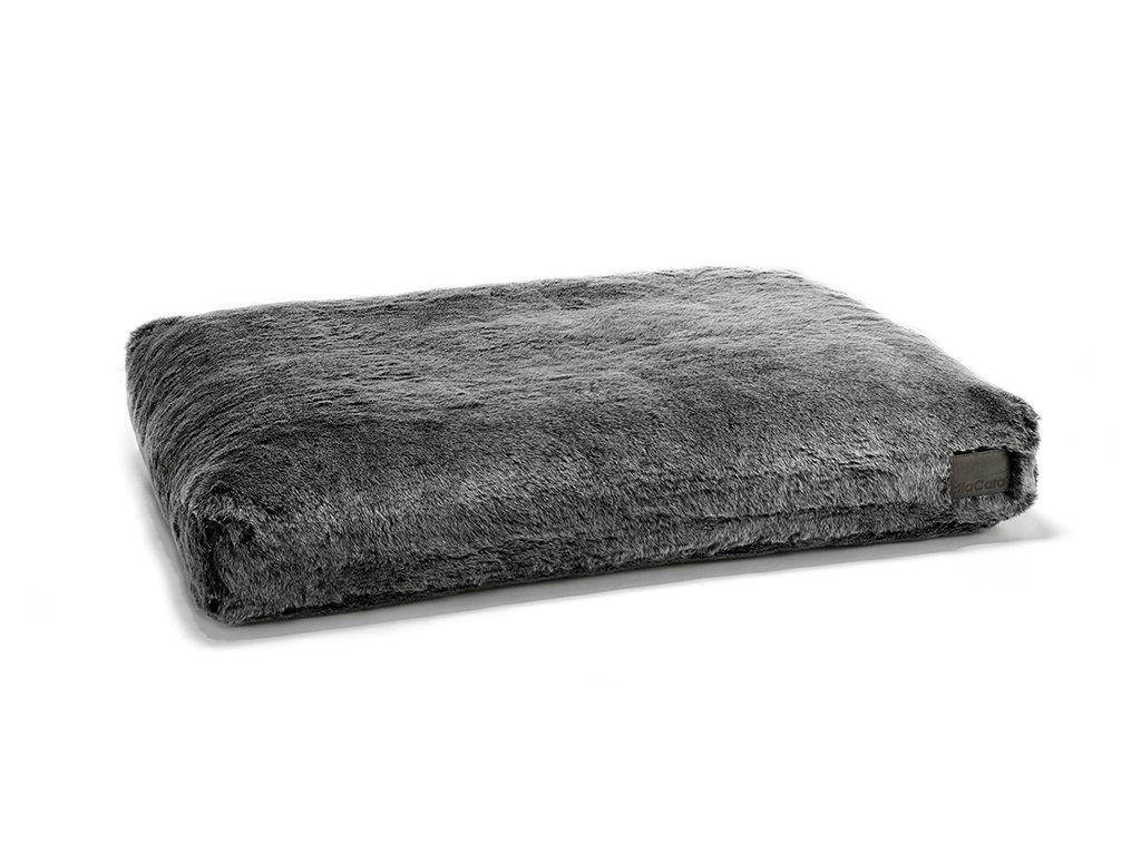 Luxusní matrace pro psy MiaCara Felpa šedá s kožíškem