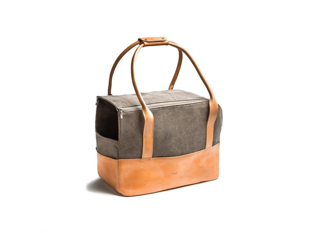 Luxusní kožená cestovní taška pro psy Cloud7 Roma