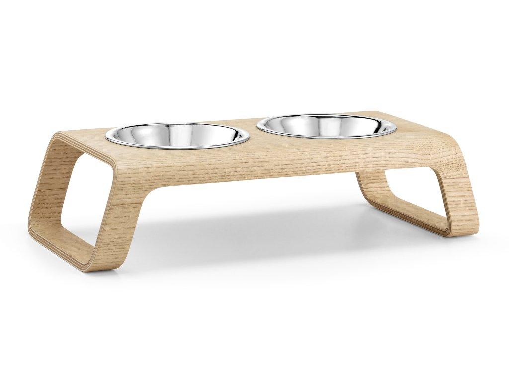 Miska pro kočky MiaCara Desco Wood natural
