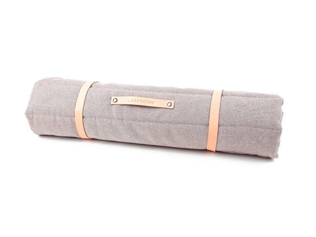 Skladná cestovní deka pro psy šedá