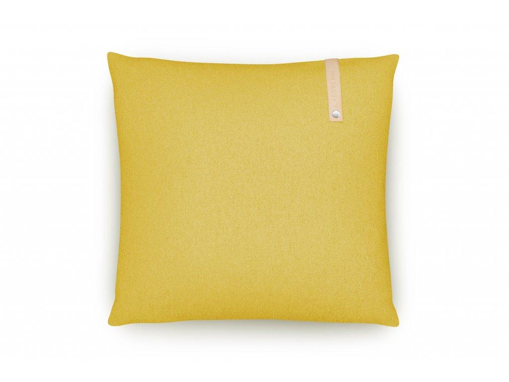Polštář do pelíšku Labbvenn Norra Kedüm čtvercový žlutý