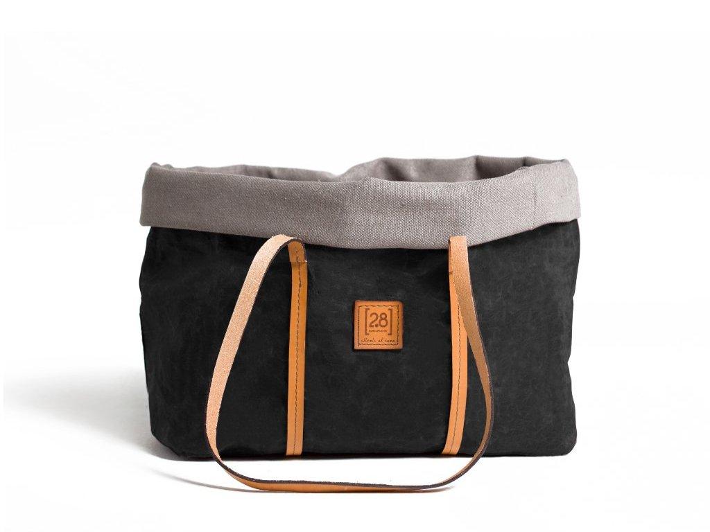 Designová cestovní taška pro psy Duepuntootto Annie černá