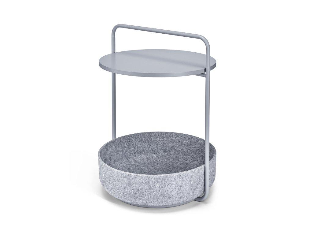 Odkládací stolek MiaCara Tavolino šedý