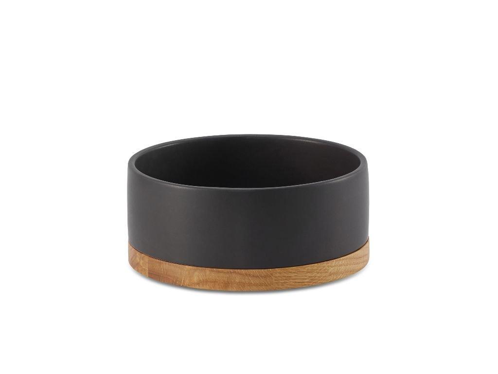 Černá keramická miska pro psa