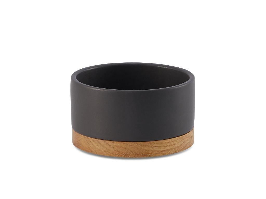 Černá keramická miska pro kočku