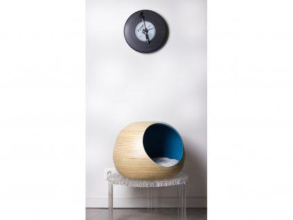 Bambusový pelíšek pro kočky Dandy Ball azurový