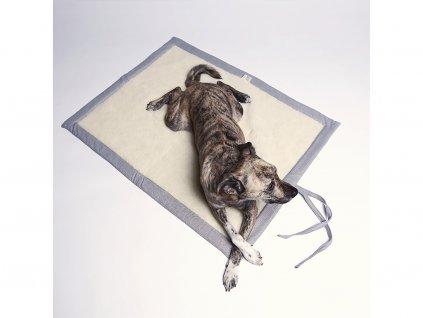 Luxusní cestovní deka pro psy Cloud7 světle šedá