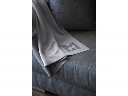 Luxusní deka pro psy MiaCara Coperta šedá