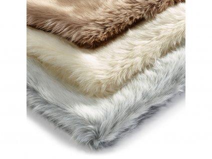 Deka pro kočky MiaCara Lana stříbrná s kožíškem