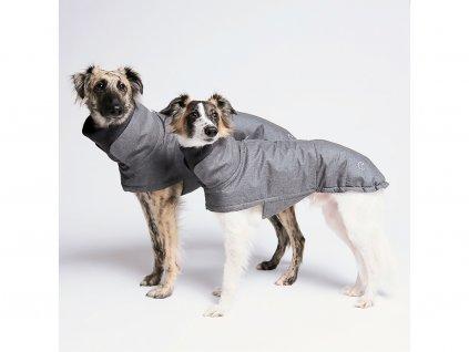 Voděodolný kvalitní kabát pro psy Cloud7 Brooklyn šedý
