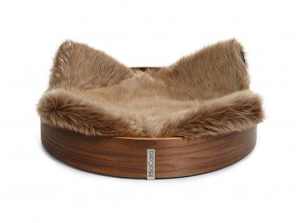 Luxusní pelíšek pro kočky MiaCara Anello hnědý