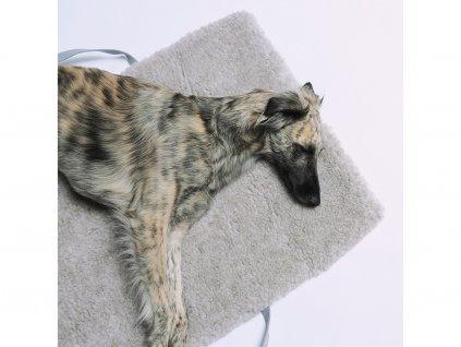 Luxusní cestovní deka pro psy Cloud7 Tweed tmavě šedá