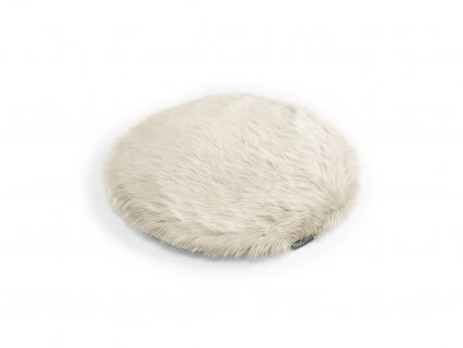 Polštář pro kočky MiaCara Lana ivory s kožíškem