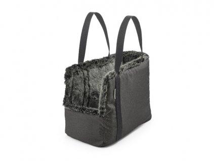 Luxusní cestovní taška pro psy MiaCara Via tmavě šedá